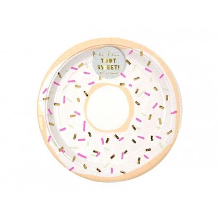 Acheter 8 assiettes en papier rondes 23cm - Donuts - 5,99€ en ligne sur La Petite Epicerie - 100% Loisirs créatifs
