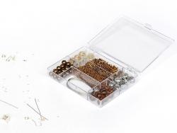 Jewellery kit - brown bead mix