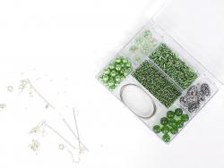 KIT Bijoux - mélanges de perles Vert
