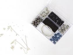Schmuckset - schwarzer Perlenmix