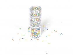 Boîte à visser avec perles de rocaille en céramique - Multicolore