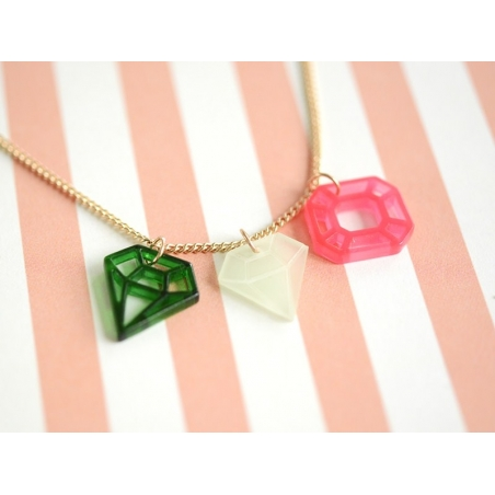 Collier Diamants - rose et vert Meri Meri - 2