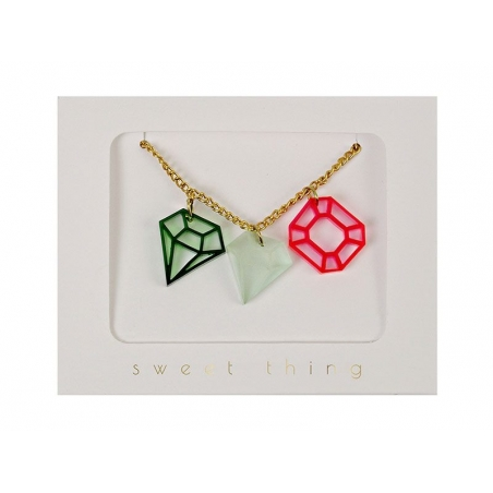 Collier Diamants - rose et vert Meri Meri - 3