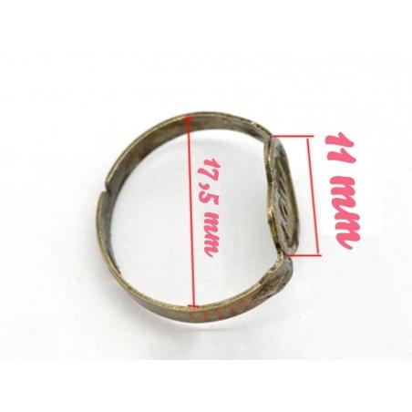 Acheter 1 support de bague love couleur bronze - 0,89€ en ligne sur La Petite Epicerie - Loisirs créatifs