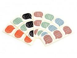 3 étiquettes autocollantes THNX - Corail