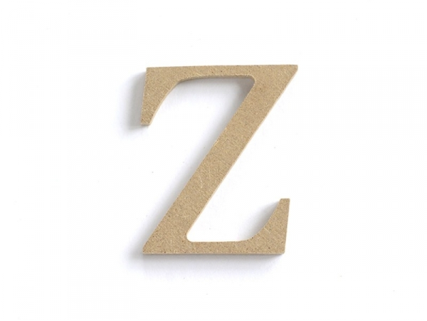 Lettre Z à customiser - en papier mâché