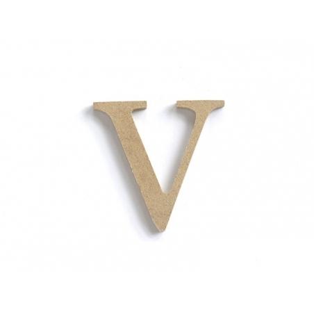 Customisable papier mâché letter - V