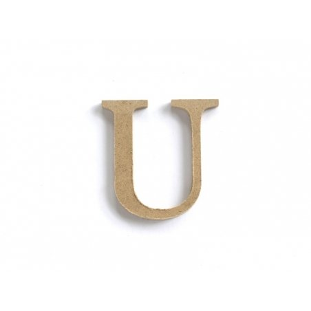 Customisable papier mâché letter - U