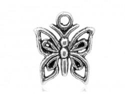 Acheter 1 breloque papillon argenté - 0,39€ en ligne sur La Petite Epicerie - Loisirs créatifs