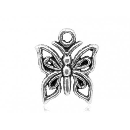 Acheter 1 breloque papillon argenté - 0,39€ en ligne sur La Petite Epicerie - 100% Loisirs créatifs
