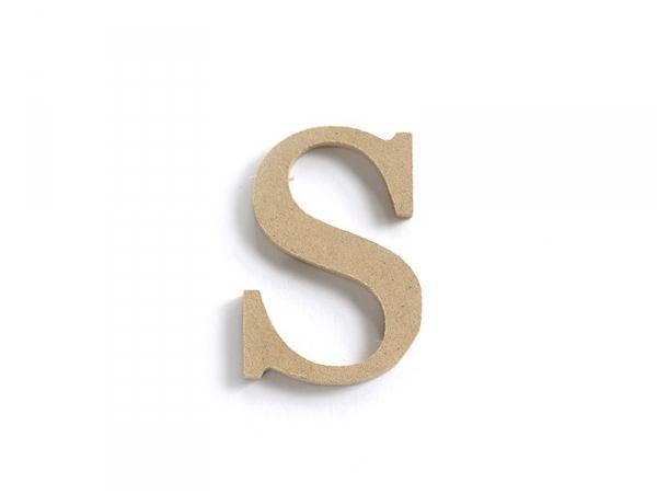 Customisable papier mâché letter - S