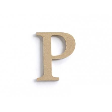 Customisable papier mâché letter - P