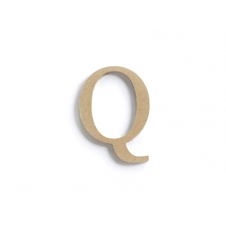 Customisable papier mâché letter - Q