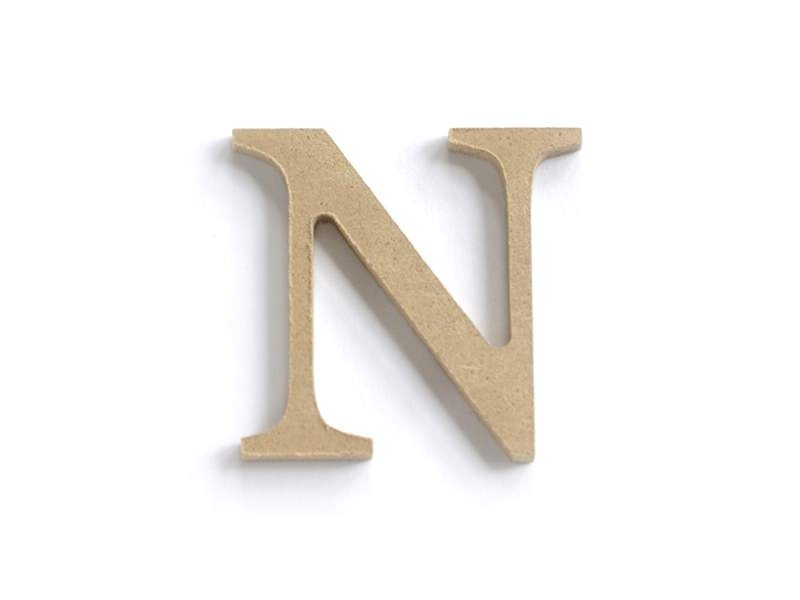 Customisable papier mâché letter - N