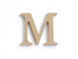 Lettre M à customiser - en papier mâché