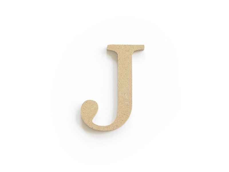 Customisable papier mâché letter - J