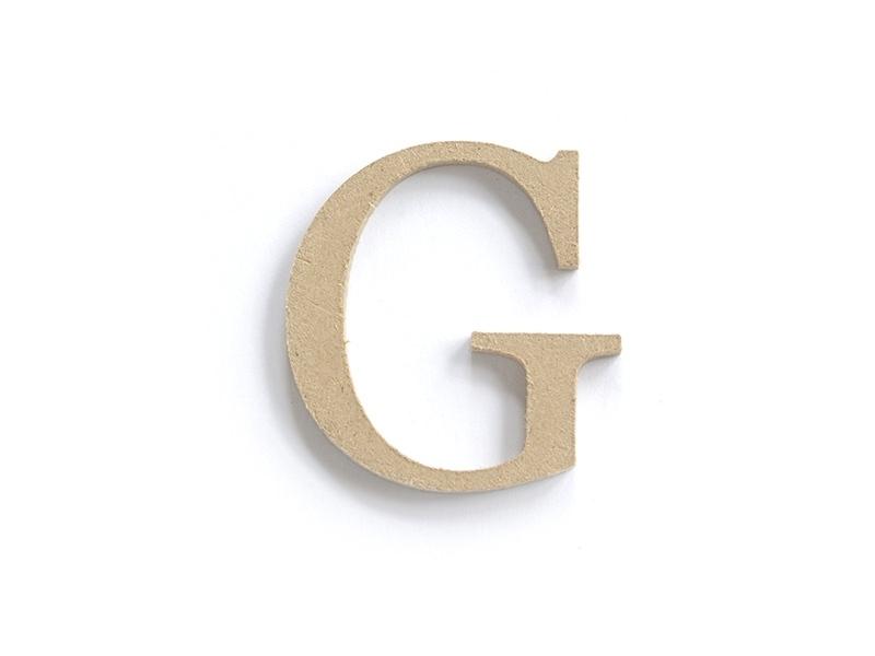 Lettre G à customiser - en papier mâché
