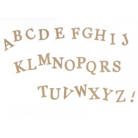 Customisable papier mâché letter - E