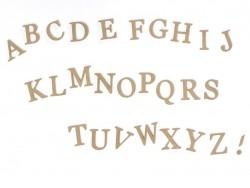Lettre A à customiser - en papier mâché