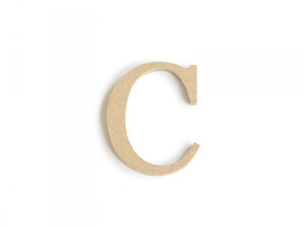 Customisable papier mâché letter - C