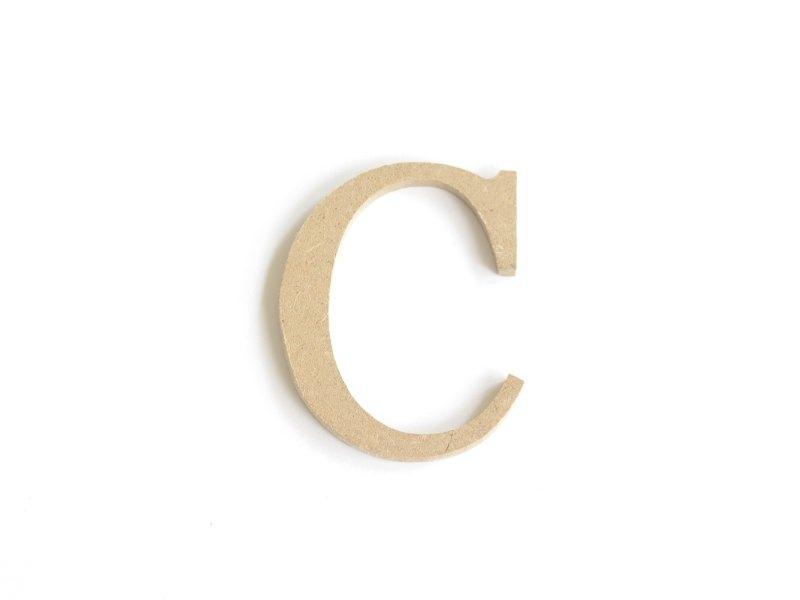 Lettre C à customiser - en papier mâché  Décopatch - 1