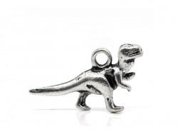 1 silberfarbener Dinosaurieranhänger