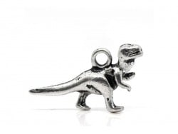 1 silver-coloured dinosaur charm