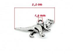 Acheter 1 breloque dinosaure argentée - 0,69€ en ligne sur La Petite Epicerie - Loisirs créatifs