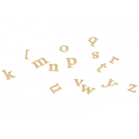 Customisable papier mâché letter - w
