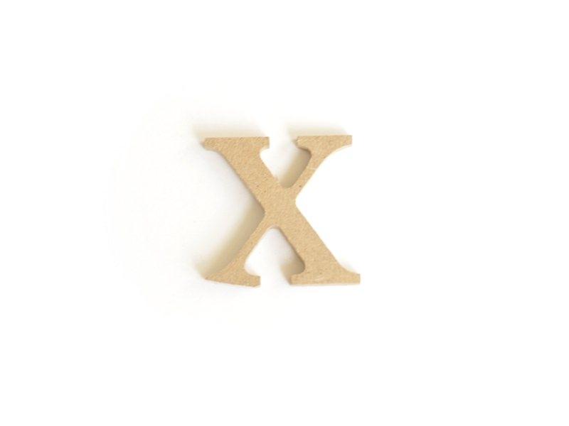 Acheter Lettre x en kraft à customiser - en papier mâché - 0,89€ en ligne sur La Petite Epicerie - Loisirs créatifs