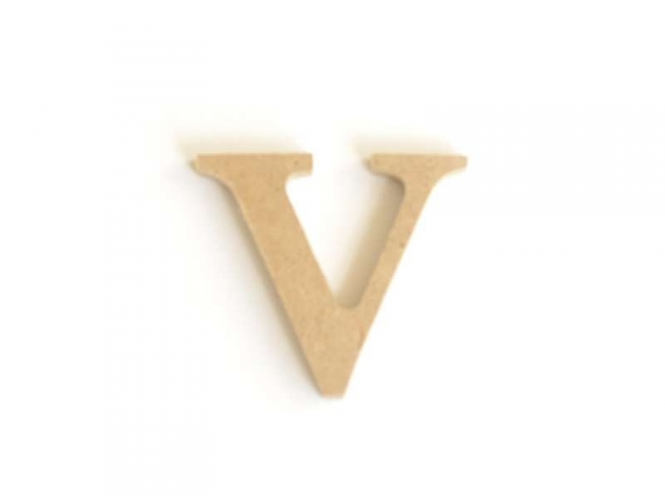 Customisable papier mâché letter - v