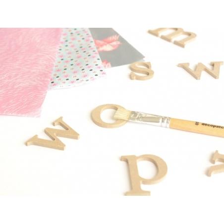 Lettre t en kraft à customiser - en papier mâché