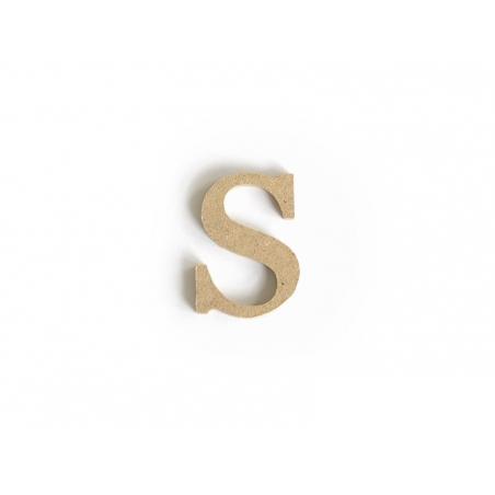 Lettre s en kraft à customiser - en papier mâché