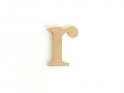 Lettre r en kraft à customiser - en papier mâché