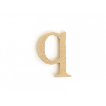 Customisable papier mâché letter - q