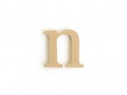Lettre n en kraft à customiser - en papier mâché