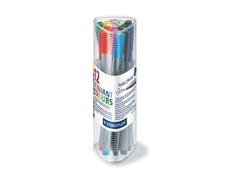 Gobelet 12 stylos Triplus fineliner - Couleurs Brillantes