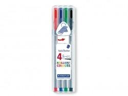 4 stylos Triplus fineliner - Couleurs Brillantes Staedtler - 3