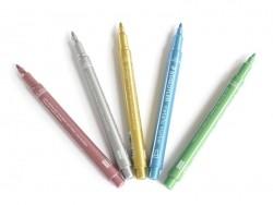 5 metallic markers