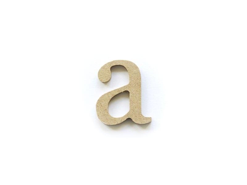 Customisable papier mâché letter - a