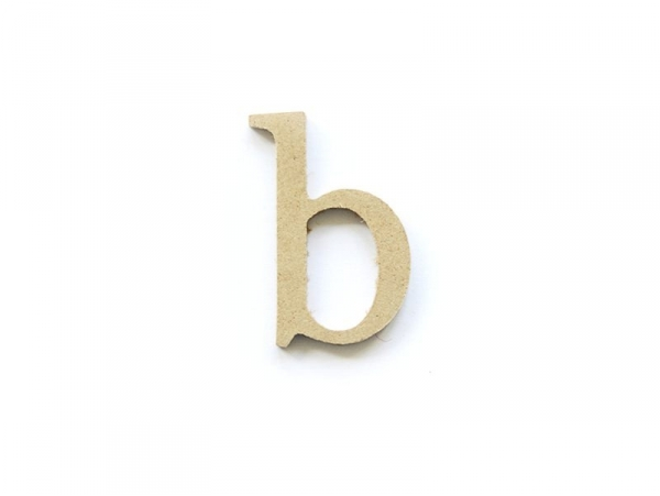 Acheter Lettre b en kraft à customiser - en papier mâché - 0,89€ en ligne sur La Petite Epicerie - Loisirs créatifs