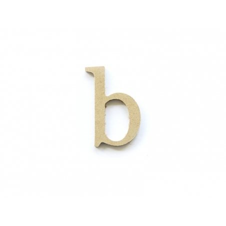 Lettre b en kraft à customiser - en papier mâché