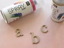 Lettre f à customiser - en papier mâché