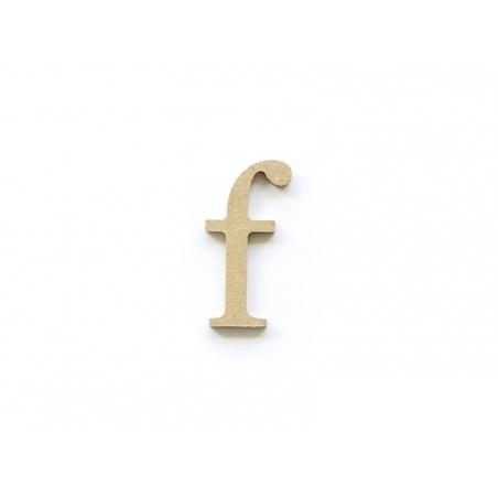 Customisable papier mâché letter - f