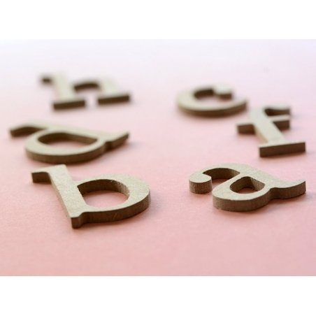 Lettre h en kraft à customiser - en papier mâché