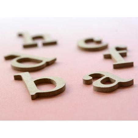 Lettre i en kraft à customiser - en papier mâché