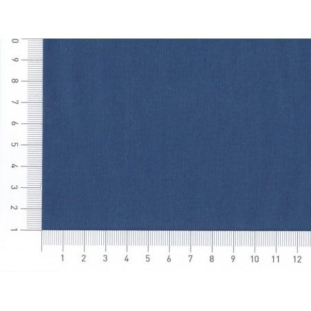 Tissu polycoton uni - bleu Blueberry Motif Personnel - 2