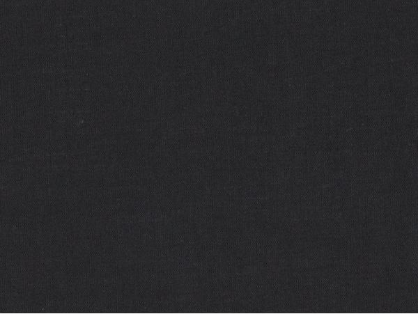 Tissu polycoton uni - noir Réglisse Motif Personnel - 1