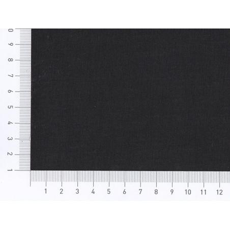 Tissu polycoton uni - noir Réglisse Motif Personnel - 2