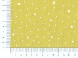 Stoff aus Baumwollmischgewebe mit Sternenmotiv - Fenchelgrün